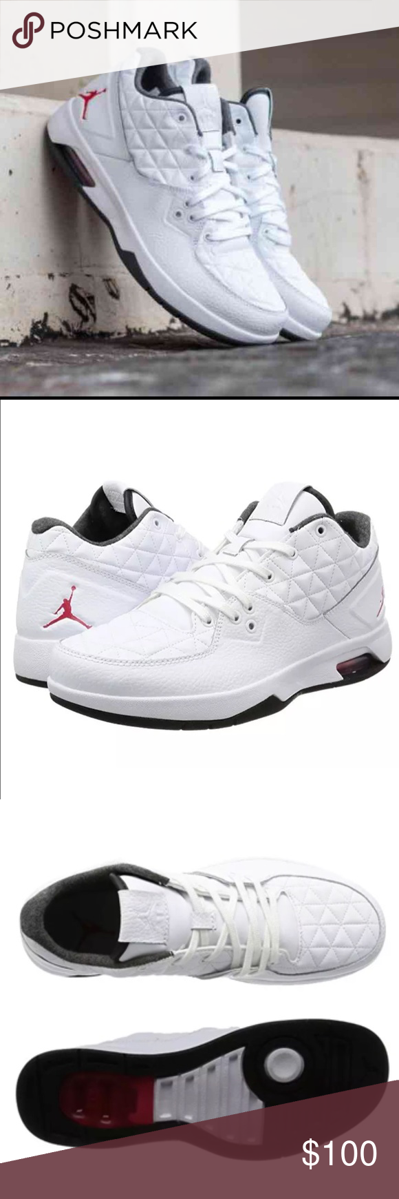 f0a8f57c59a927 Nike Air Jordan Clutch Basketball Sneaker for Men ✨Color  White   Black   Gym  Red ✨Available Sizes  -9 -9.5 Come in the clutch with a pair of Jordans for  ...