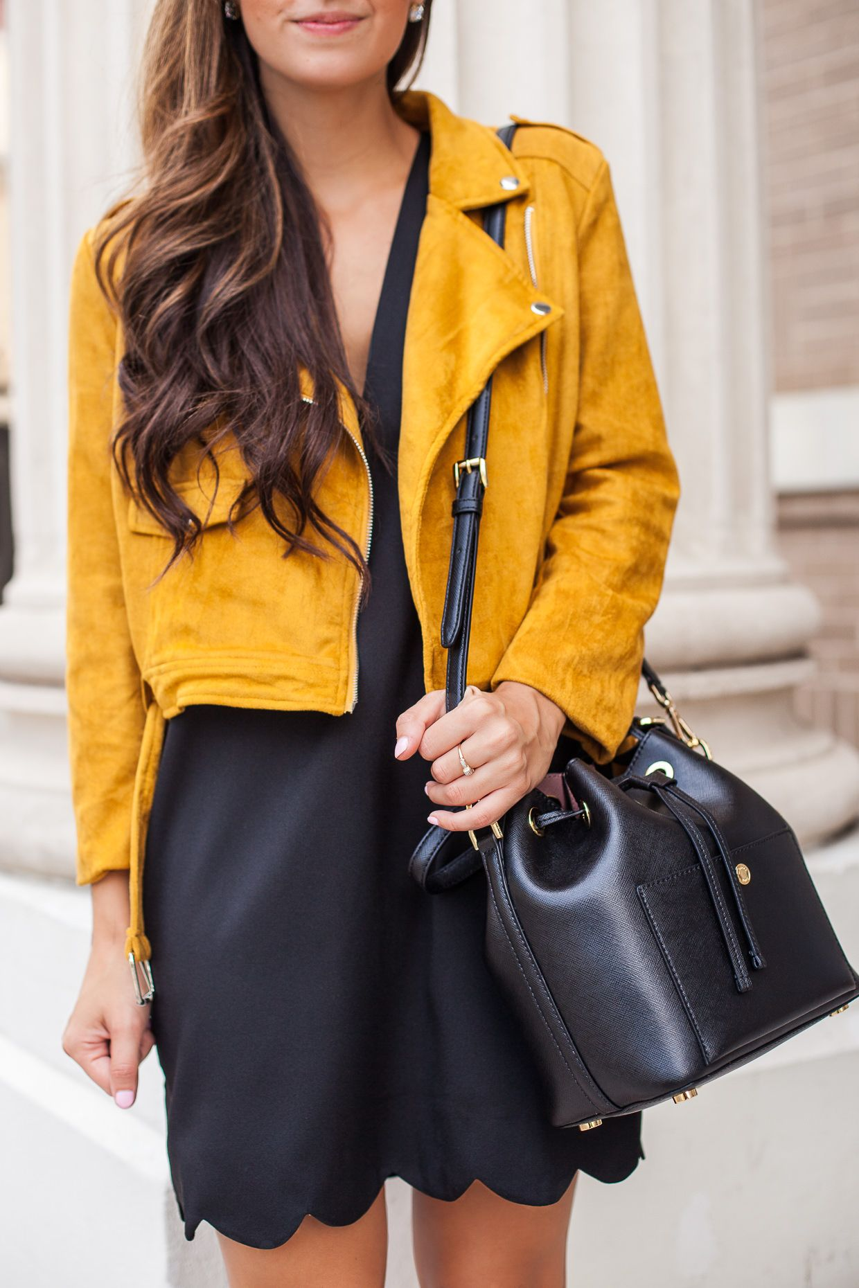 686b7f72a4 Missguided | Michael Kors Bag outfits | Fashion, Mustard suede ...