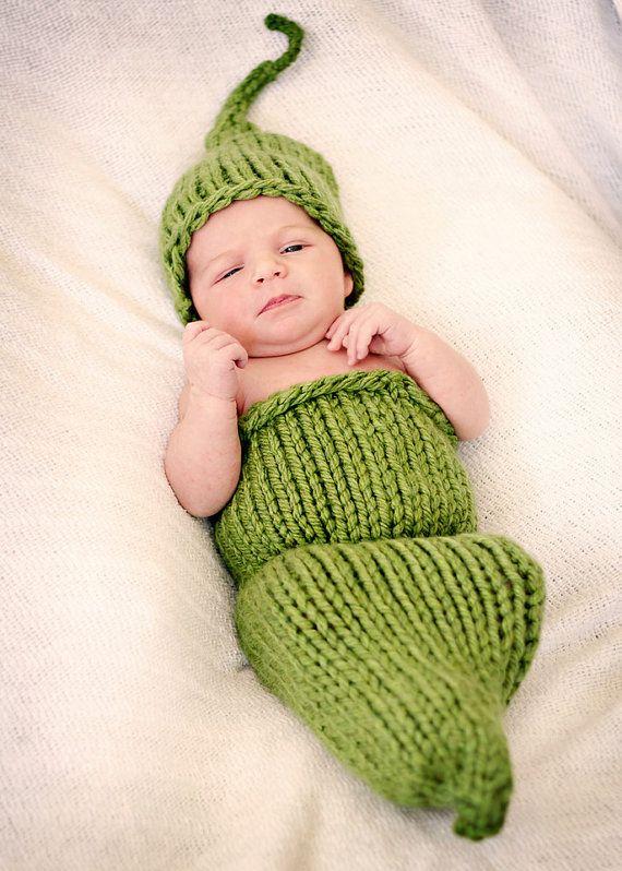 Newborn Photo Prop Pea Pod PDF Knitting Pattern by ...