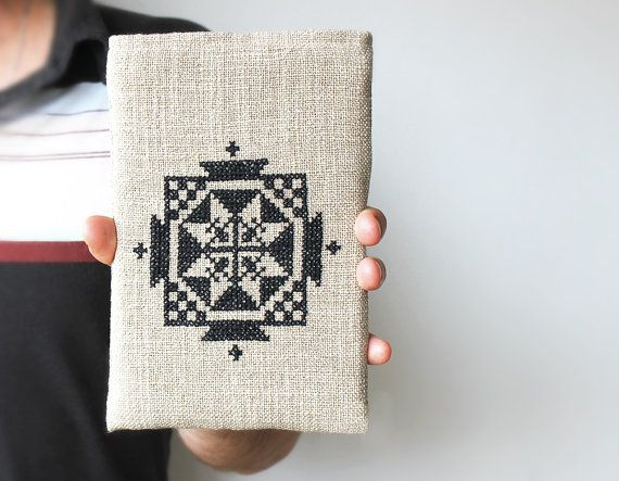 An embroidered case gives your tablet a handmade touch.