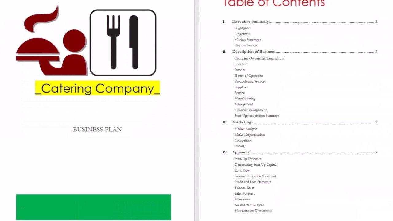 Catering Business Plan  Catering Business Plan