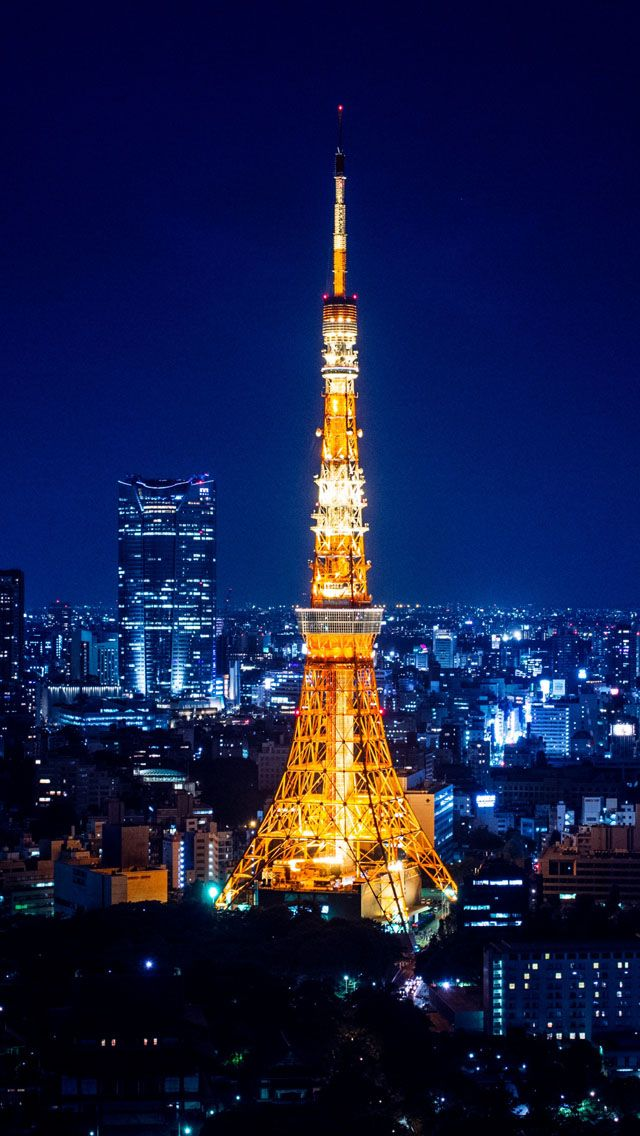 Tokyo Tower At Night IPhone 5s Wallpaper Download