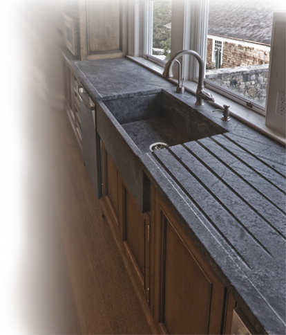 West Wall Of Kitchen Window Sill To Be At Counter Height Soapstone With Runnels