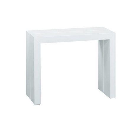 Tables Console Extensible Victoria 2 Blanc Console Extensible Meuble Canape Achat Meuble