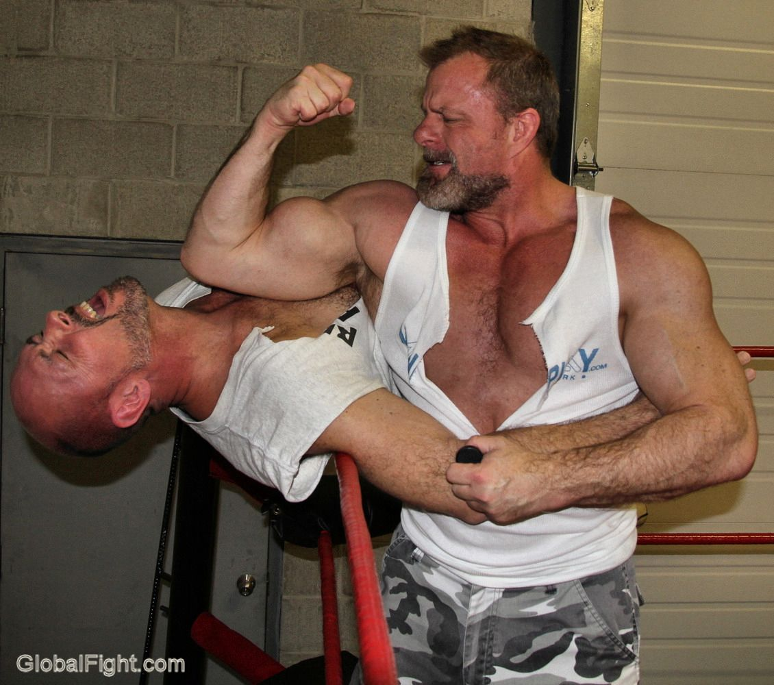 Muscle bear wrestling