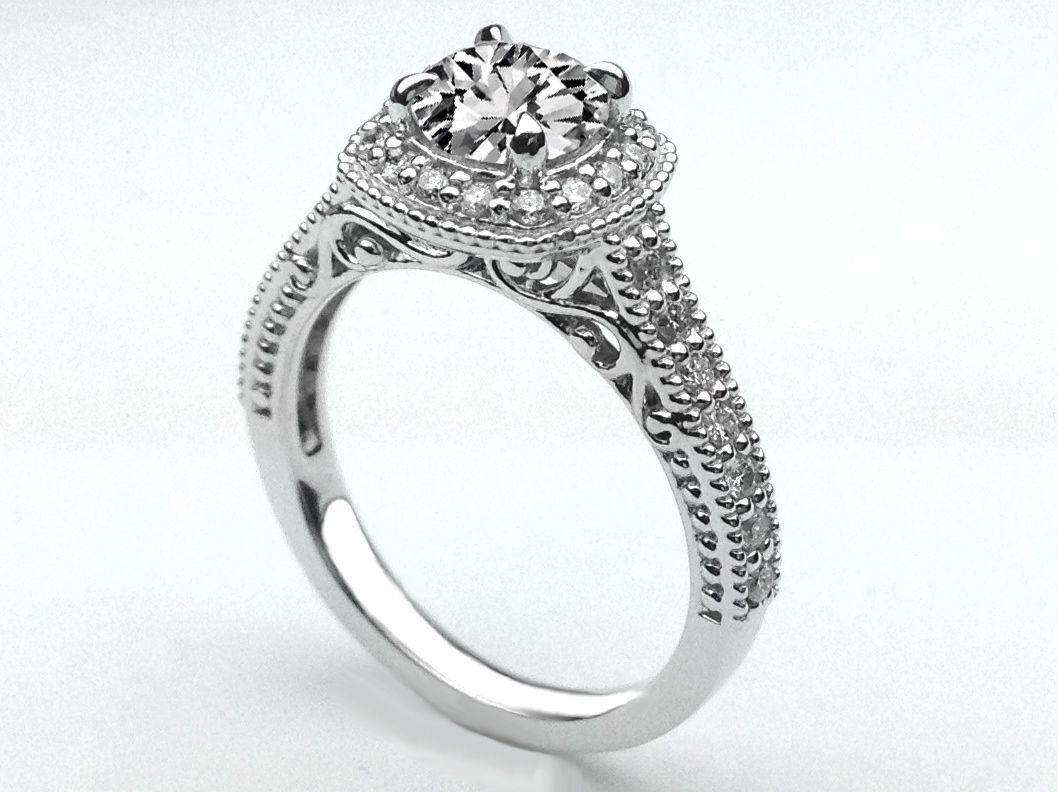 deco dia rings wedding filigree dome art ring diamond products shop trans