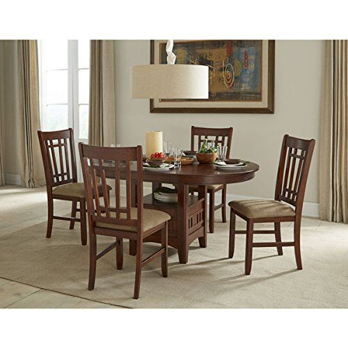 Mission Casual Dark Planed Oak 42x42 60 Dinette Table