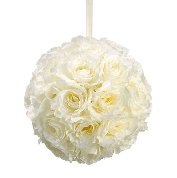 Wholesale 4 10 Quot Rose Kissing Ball Pomanders In Ivory Kissing Balls Wedding Ball Whole Artificial Flowers Wedding Silk Flowers Wedding Kissing Ball
