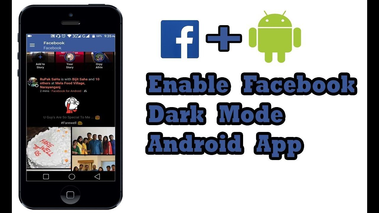 How to Enable Dark Mode on Facebook Android App - 2019 New