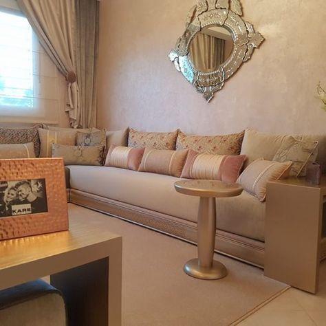 Salon marocain beige – INTÉRIEUR SUR MESURE | Salon marocain ...