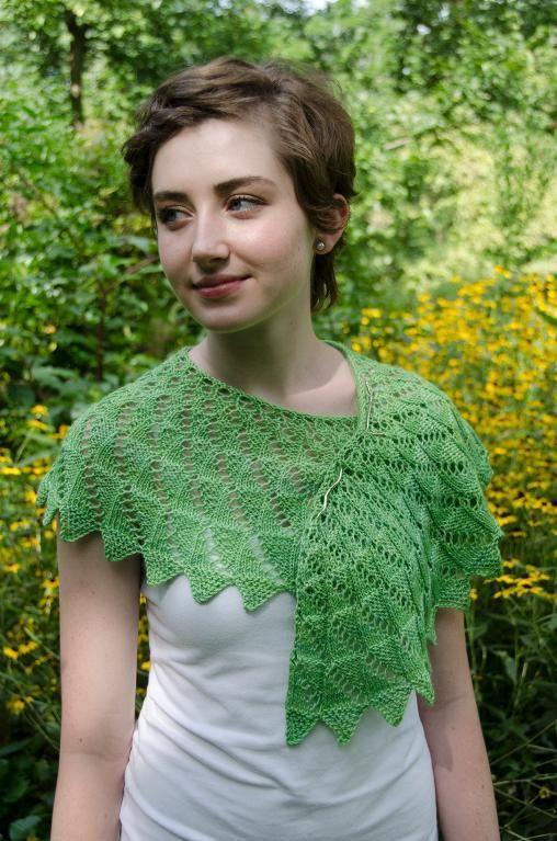 Springtime Shawlette Knitting Pattern