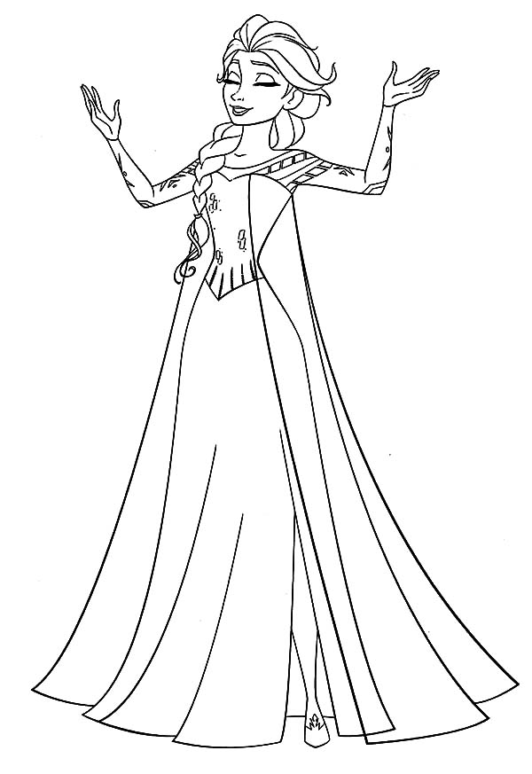 Queen Elsa Singing Coloring Pages Coloring Sky Elsa Coloring Pages Disney Princess Coloring Pages Princess Coloring Pages