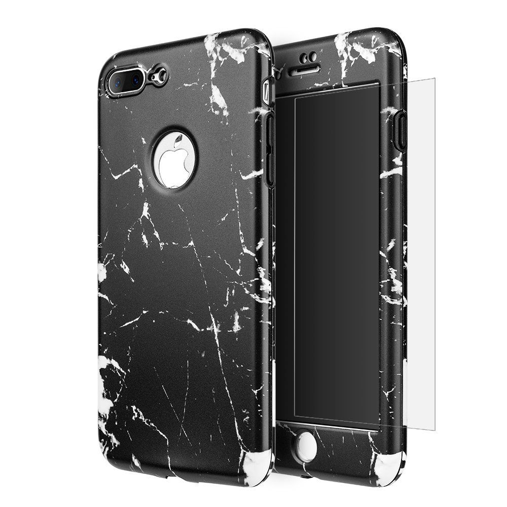 IPHONE 7 360 DEGREE FULL PROTECTION WRAP UP MARBLE CASES