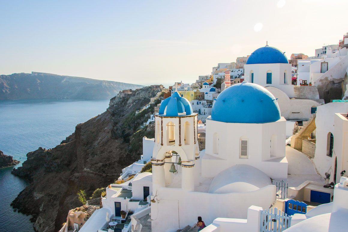 Travelling To Greece With A Baby Santorini Fotos Vacaciones En