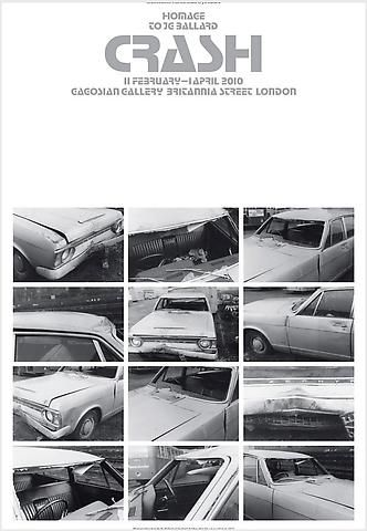 Shop - Crash Poster - (Photographs taken by JG Ballard of his Ford Zephyr after his car accident in 1973) - Gagosian Gallery