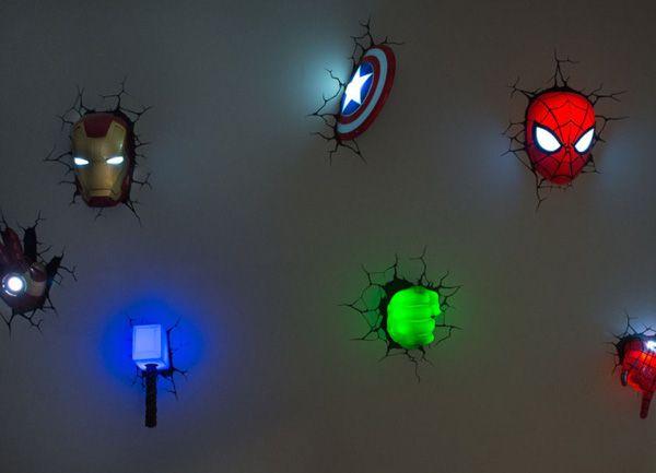 The Avengers Superhero 3d Deco Lights Marvel Bedroom Superhero Room Marvel Room