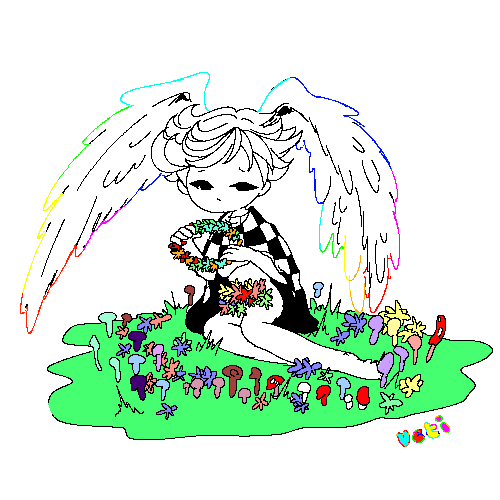 """ueti: """" this is my winged boy character his name is Ivory """""""