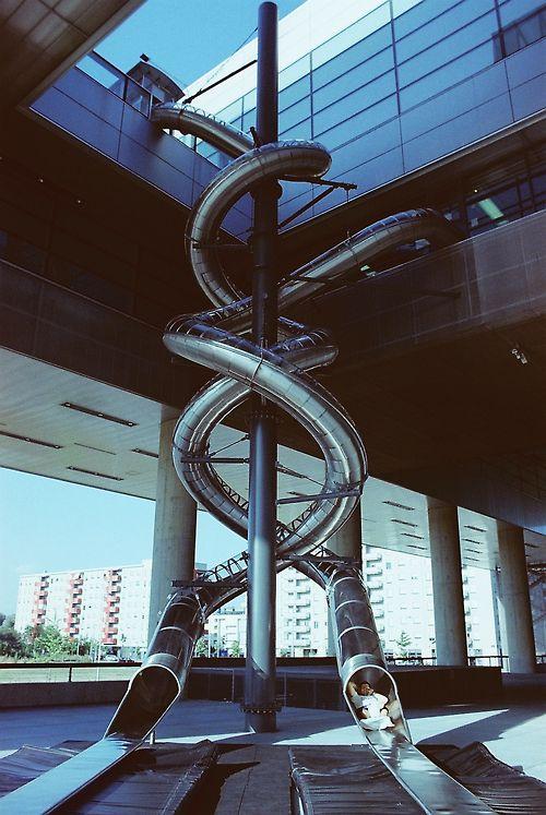 Building Slide Cool Slides Museum Of Contemporary Art Indoor Slides