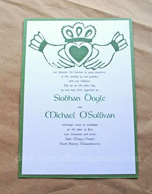 Irish Wedding Invitations Since I Am Constantly Wearing My Claddahg Irish Wedding Invitations Wedding Invitations Ireland Wedding Invitation Wording Examples