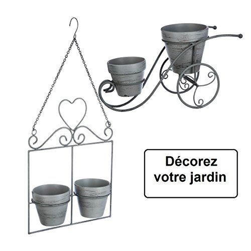Ensemble de jardin intérieur ou extérieur : Porte plantes vélo + 1 ...
