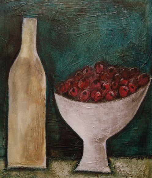 A bowl of raspberries..