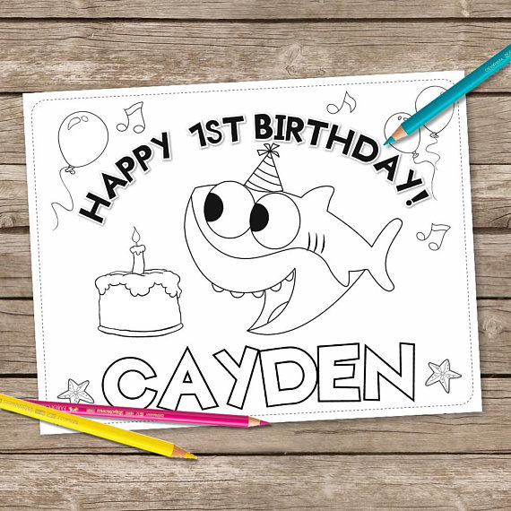 Unicorn 6 Coloring Pages Magical Birthday Coloring Printable Etsy Birthday Coloring Pages Printable Unicorn Birthday Shark Coloring Pages