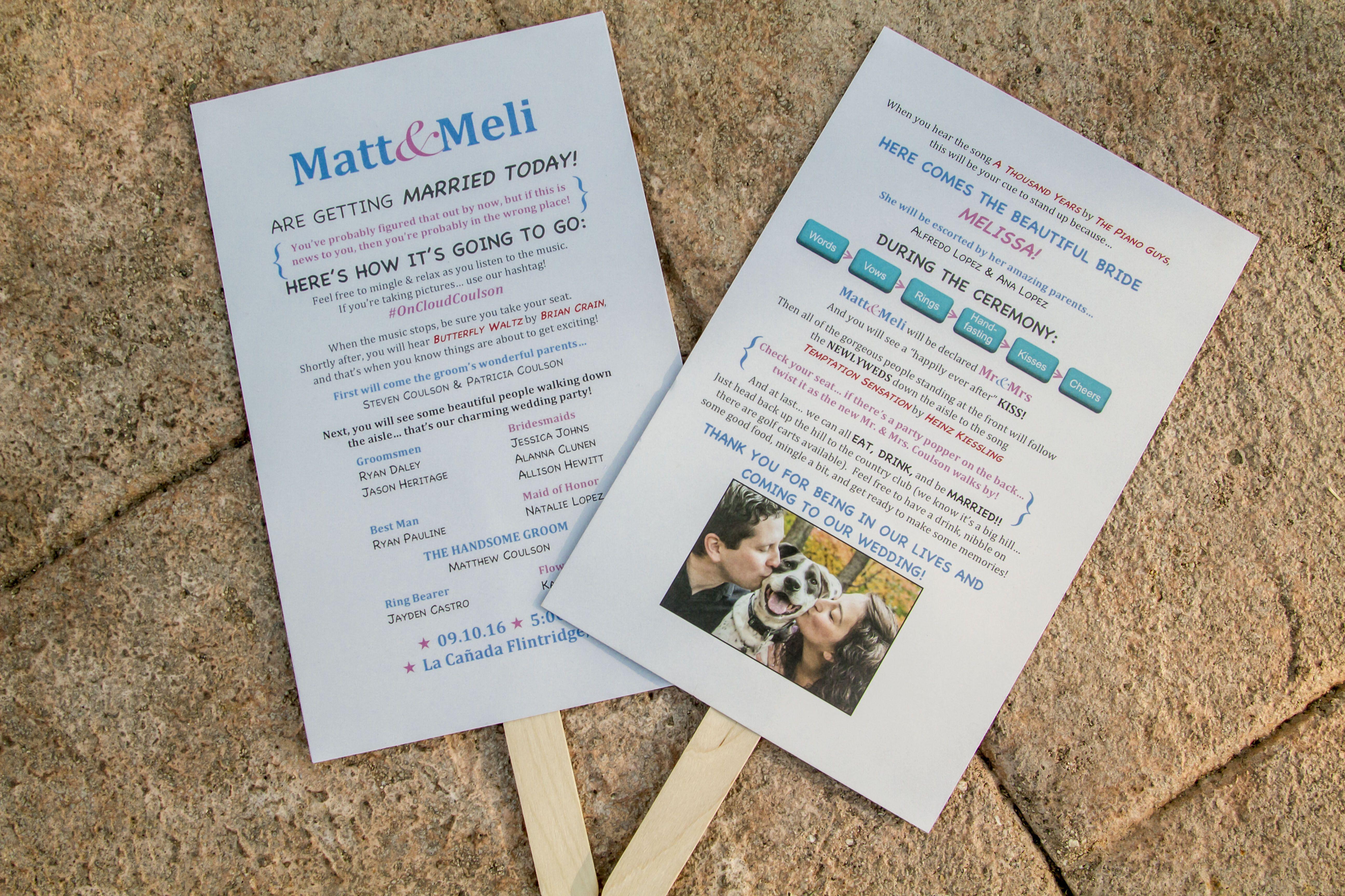 We Made Our Own Wedding Programs Wedding Socalwedding Theknot
