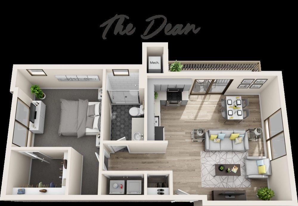 Image Result For 1 Bedroom Apartment Floor Plans