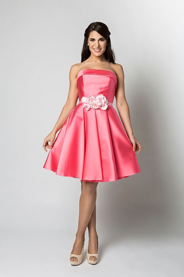 Vestido con escote en palabra de honor modelo 166 de Alba de Luna ...