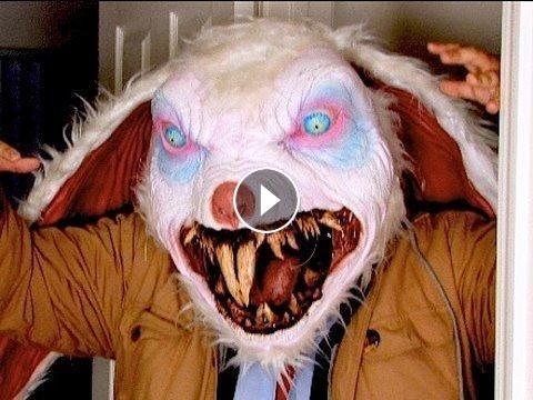 April Fools Monster Bunny Scare Prank #funny #prank | Pranks | Evil