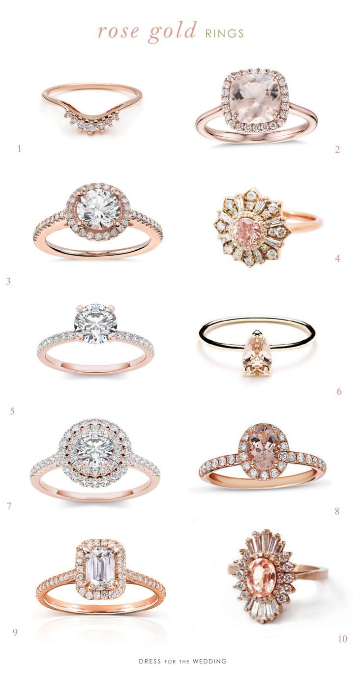 Rose gold engagement rings engagements pinterest rose gold