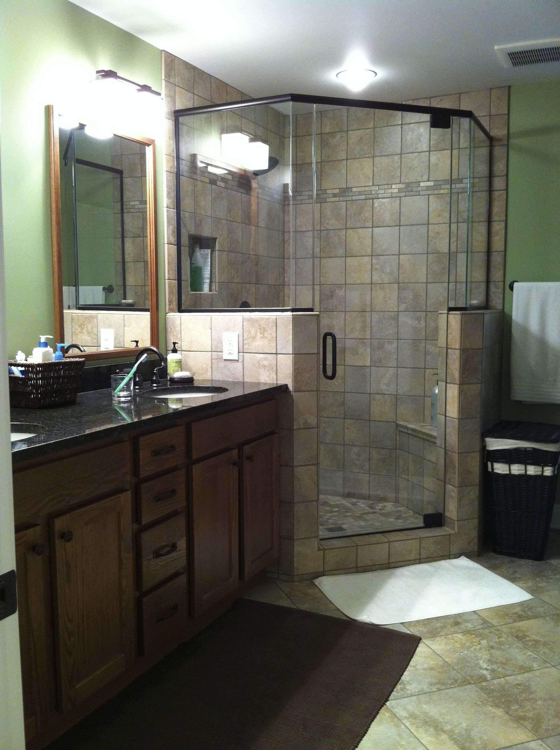 Corner Shower With Shampoo Niche Accent Tile 2X2 Shower Floor Entrancing Bathroom Accent Tile Review