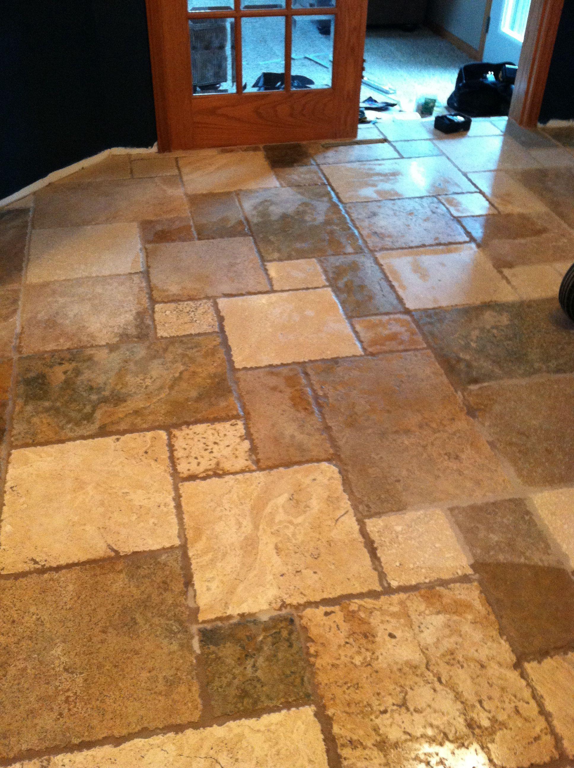 Travertine Tile Kitchen Floor Kitchen Floor Pinterest