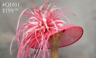 Olivia Hats Pink Fireworks OH01 Via Dees Crafts