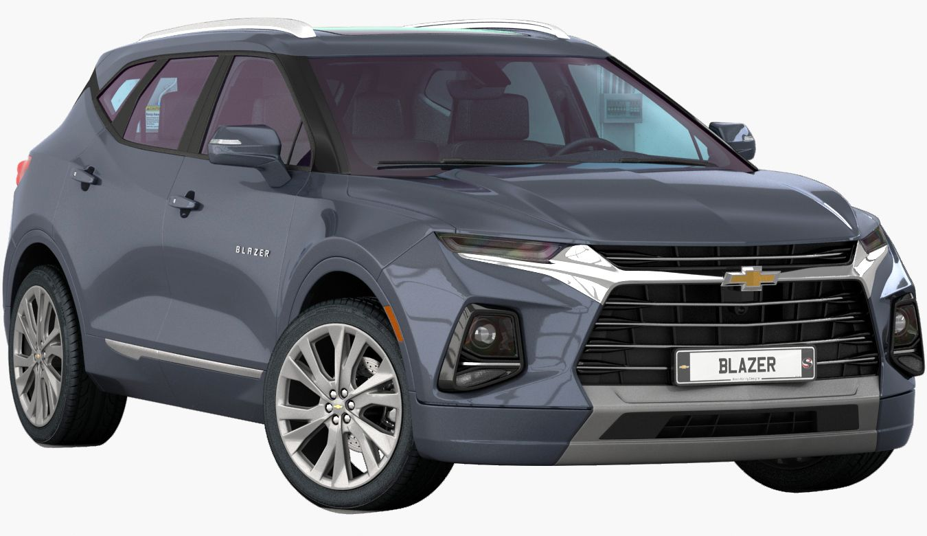 3D Chevrolet Blazer 2020 (Opening Doors) model in 2020