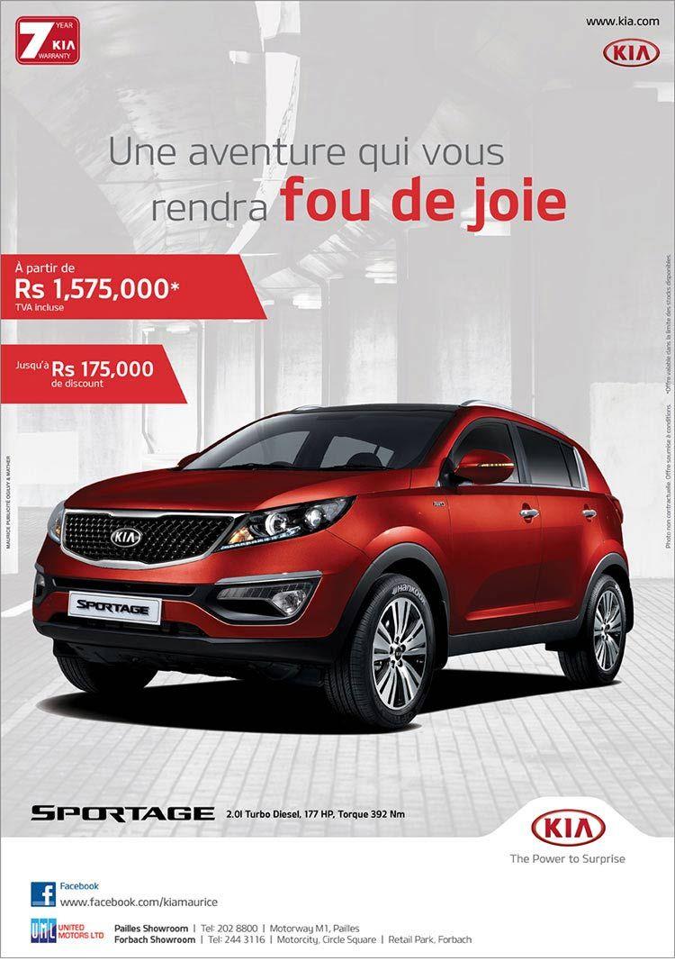 Kia Sportage Une Aventure Qui Vous Rendra Fou De Joie Tel 202 8800 244 3116 Car Advertising Design Brochure Design Layout Advertising Design