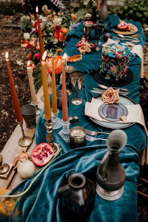 20 Dark Teal and Rust Orange Wedding Color Ideas for Fall