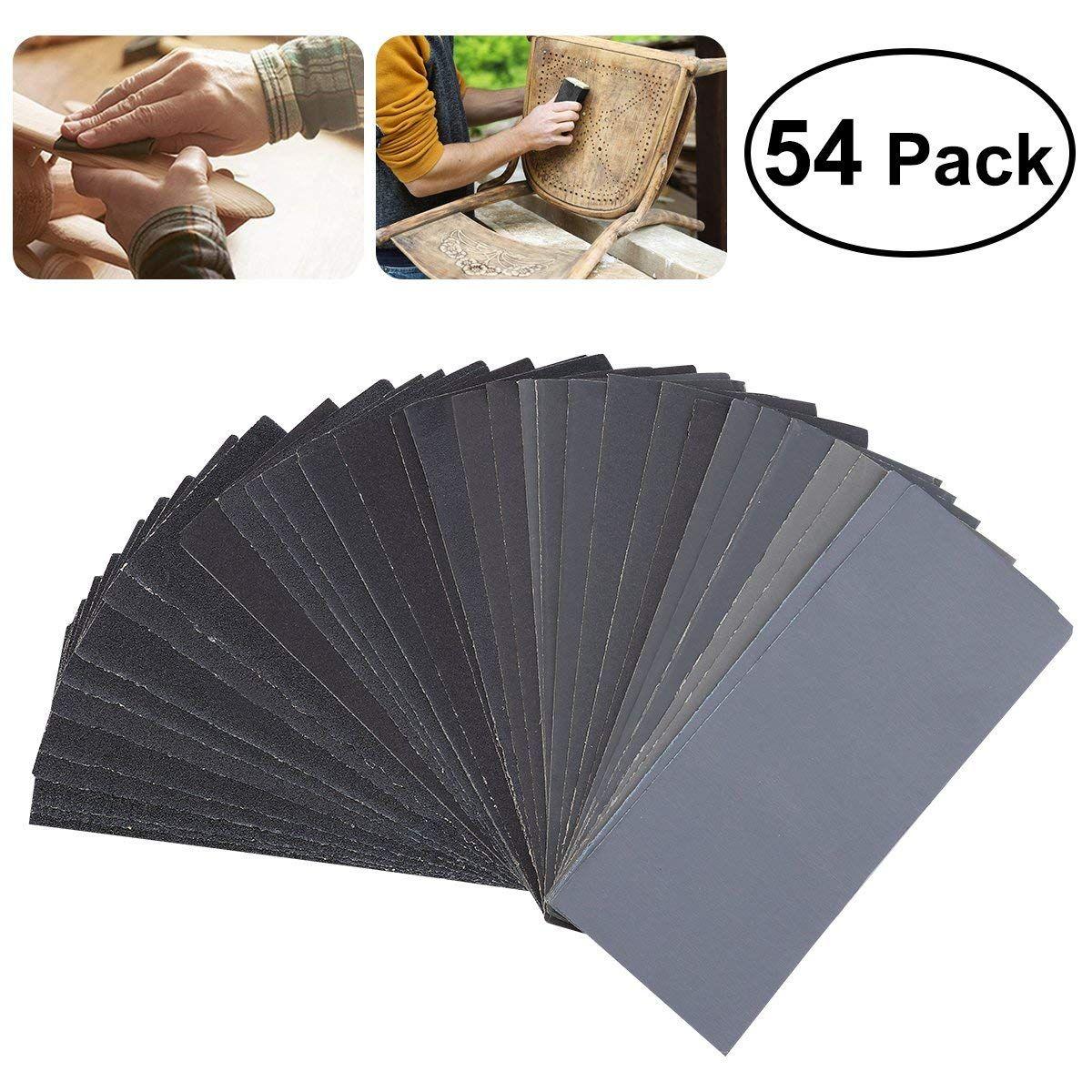 Hot Sale 54pcs 60 To 3000 Grit Sandpaper Assortment Wet Dry Sand Paper For Automotive Sanding Wood Sale 54pcs 3000 Grit Sandpaper Assortment With Images Sanding Wood