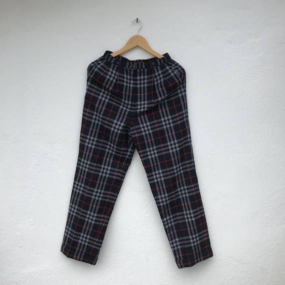 cb2d632db9414b BURBERRYS Nova Check Casual Women Pants Vintage Burberry Pants ...