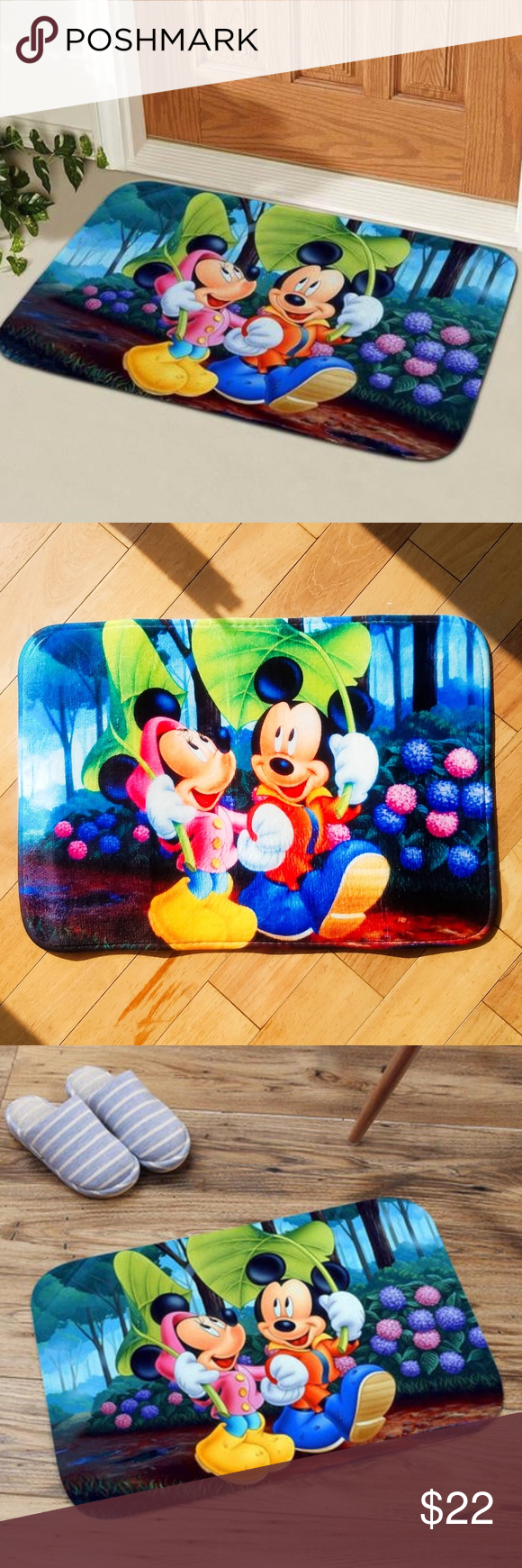 Disney Indoor Outdoor Quick Dry Bath Doormat Nwt Nwt Memory Foam Cushion Entrance Mat Door Mat