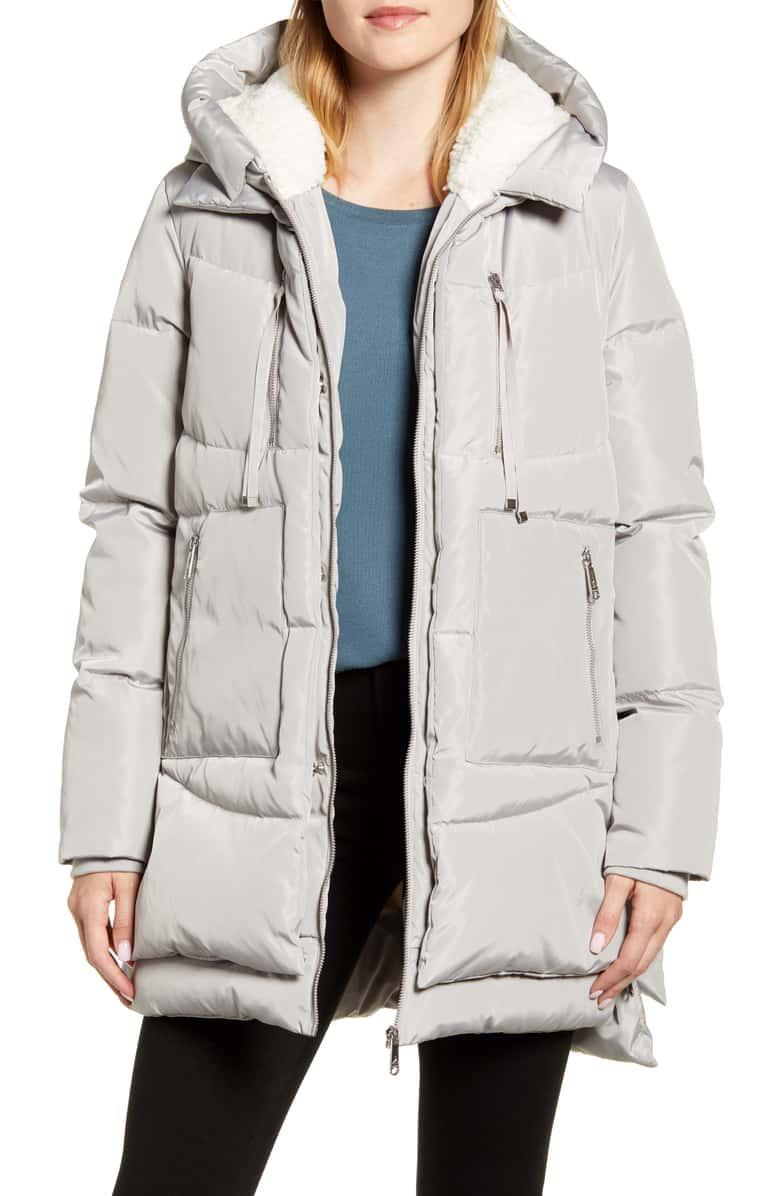 Sam Edelman Faux Shearling Lined Puffer Coat Nordstrom Puffer Coat Shiny Jacket Nordstrom Outfit [ 1196 x 780 Pixel ]