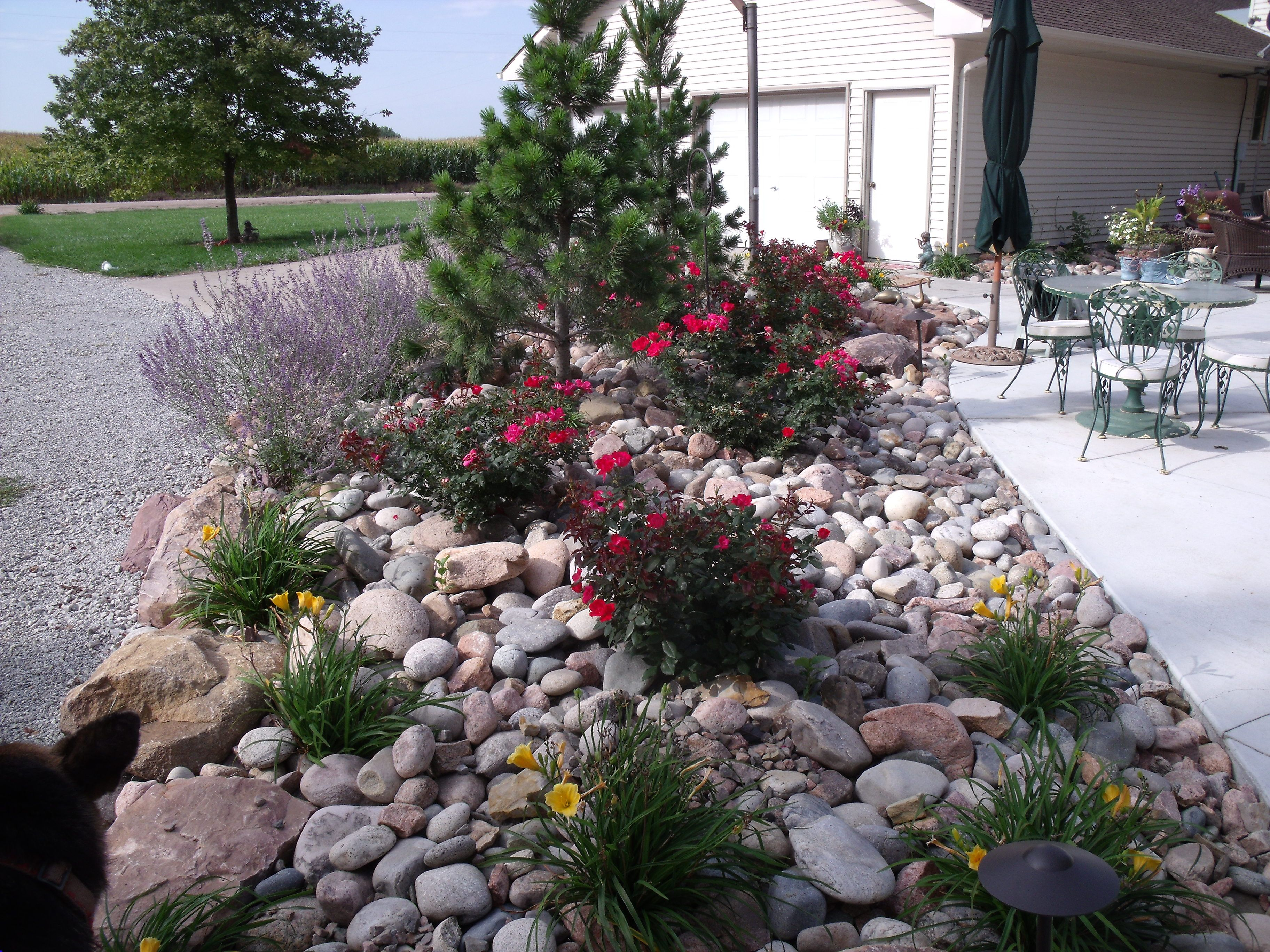 22 Popular Collection River Rock Landscaping Pictures Puutarha