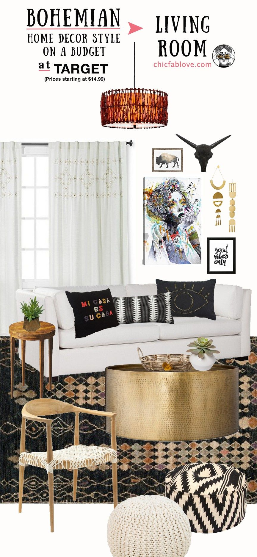 Bohemian Home Decor Style On A Budget At Target Blogger