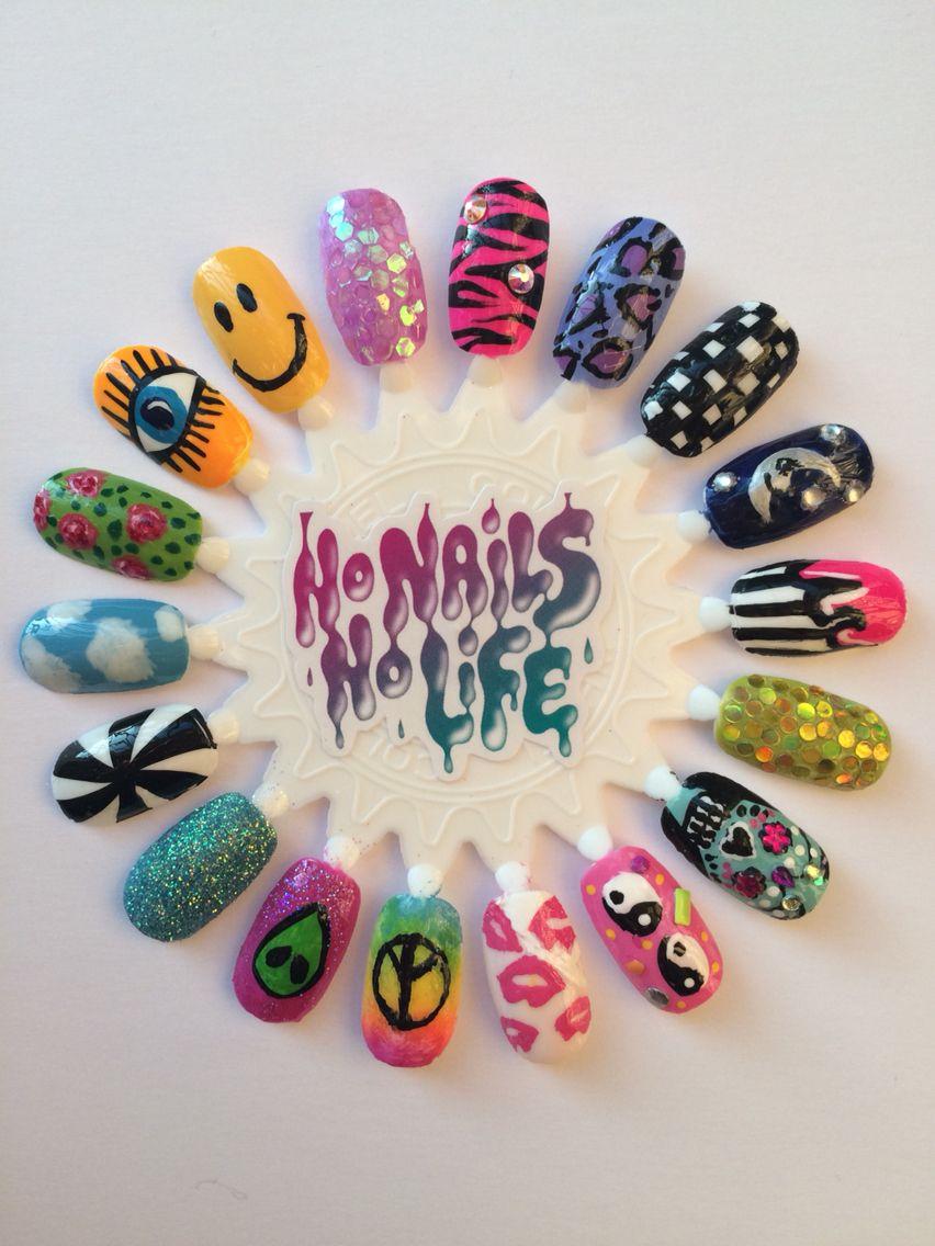 Nail Art Wheel Nails Pinterest Nail Art Wheel Nail Manicure