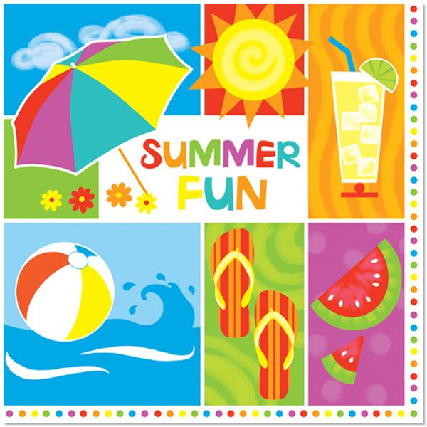 Summertime Fun Lunch Napkins