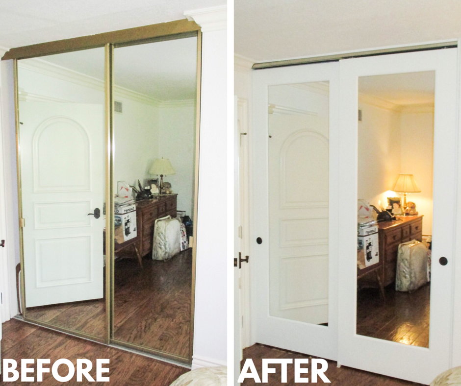 If You Re Gradually Working To Modernize Your Home Upgrading Your Closet Doors Can Speed Up Your Mirror Closet Doors Closet Door Makeover Bedroom Closet Doors