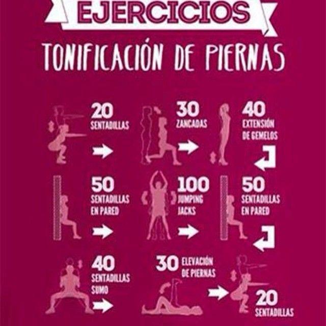 Rutina de 10 minutos para unas piernas sexys workout pinterest ejercicio en casa piernas - Plan de entrenamiento en casa ...