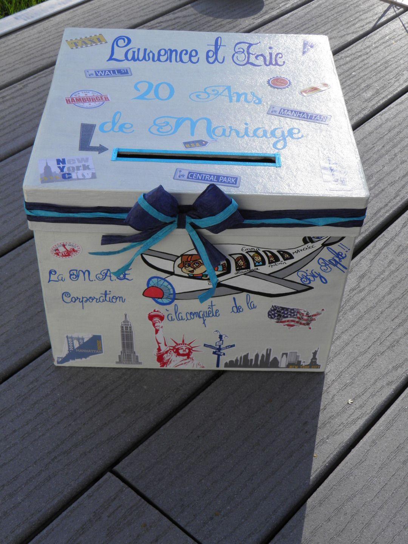 Urne pour départ en retraite avec cadeau voyage (urne taille petite)   Boîtes, coffrets par pimprenelle,coccinelle,creations