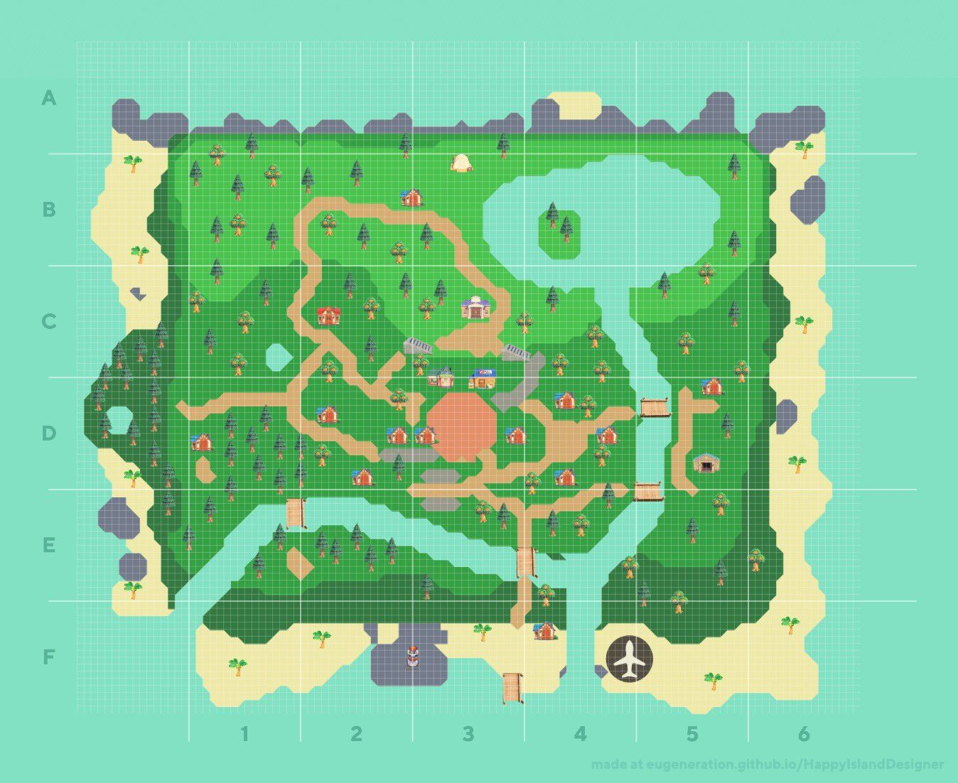 Designer happy island