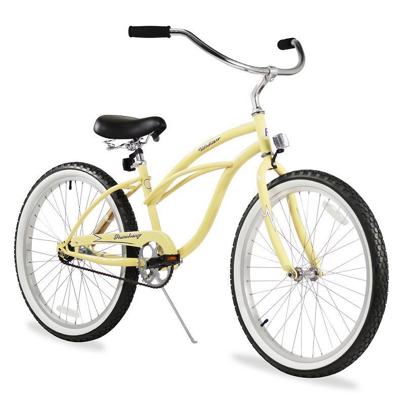 Firmstrong Women's 24-in. Urban Single-Speed Beach Cruiser Bike, White